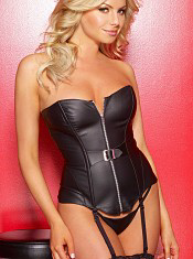 Leather Corset with Zipper