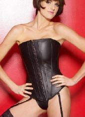 Leather Long Line Corset
